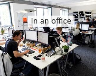 in an office